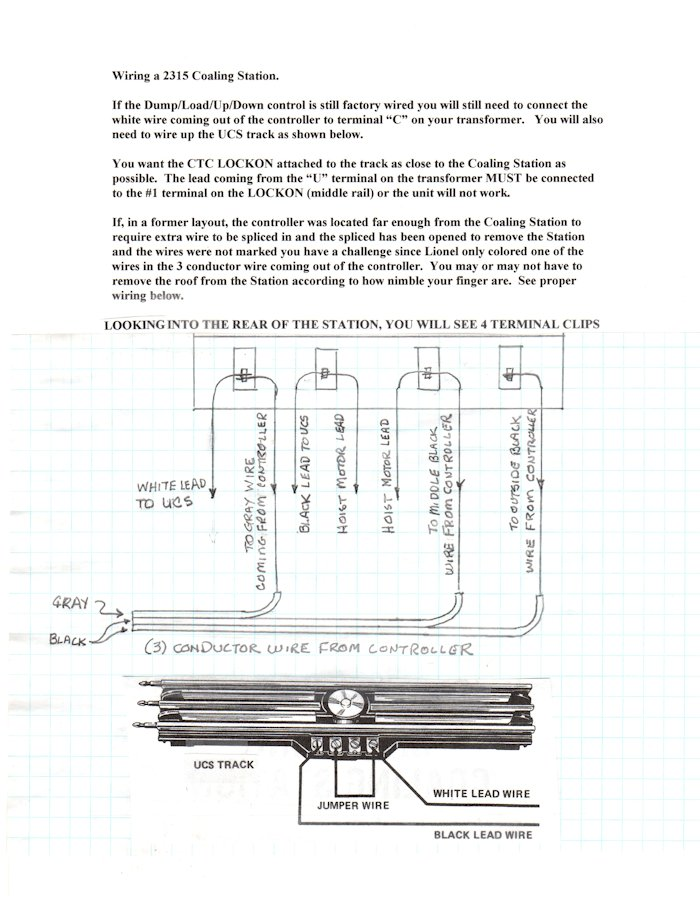 lionel accessories wiring diagrams 2315 coaling station