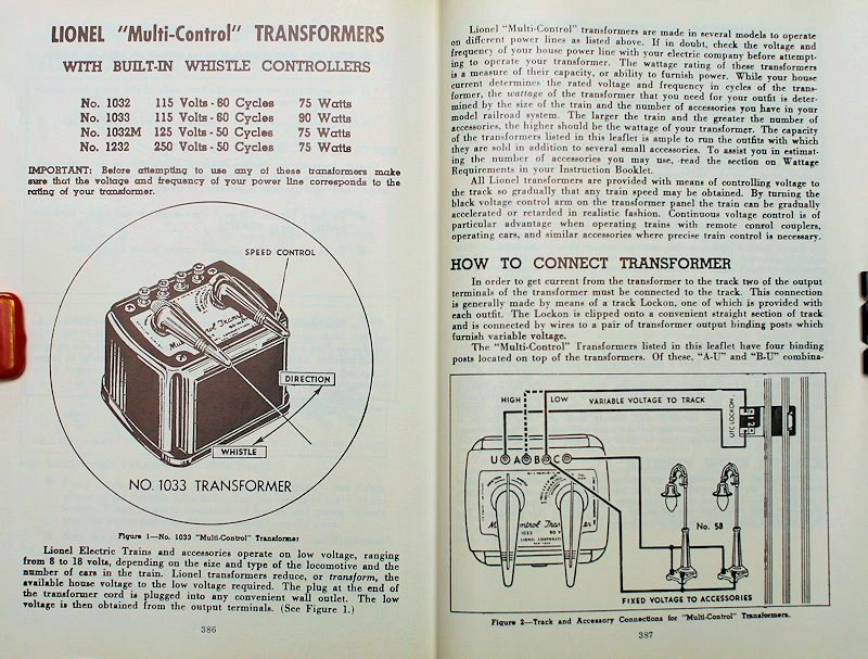 1033 1 2 power for o 3 rail toy trains page 2 lionel 1033 transformer wiring diagram at gsmx.co